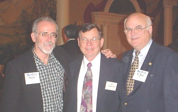 L to R, William F. Cox, Dan Smithwick, and E. Ray Moore, Jr., at SepCon 2004, Wash D.C.